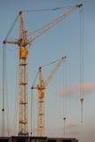 χτίζοντας πύργος γερανών Στοκ Εικόνες