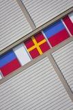 χτίζοντας σημαίες Στοκ Φωτογραφίες