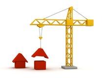 χτίζοντας σπίτια Στοκ Φωτογραφία