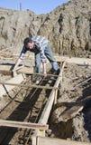χτίζοντας σπίτι θεμελίων Στοκ φωτογραφία με δικαίωμα ελεύθερης χρήσης