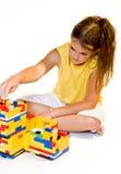 χτίζοντας σπίτι κοριτσιών Στοκ εικόνα με δικαίωμα ελεύθερης χρήσης