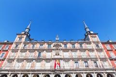 Χτίζοντας στον ταγματάρχη Plaza στη Μαδρίτη, Ισπανία Στοκ εικόνες με δικαίωμα ελεύθερης χρήσης