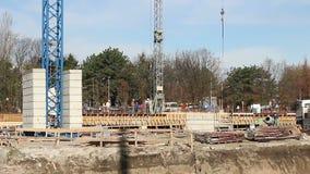 χτίζοντας συγκεκριμένοι τοίχοι περιοχών πατωμάτων κατασκευής απόθεμα βίντεο