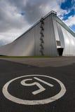 χτίζοντας σύγχρονη αποθήκ Στοκ εικόνα με δικαίωμα ελεύθερης χρήσης