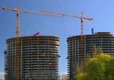 χτίζοντας σύγχρονοι πύργ&omicron Στοκ Εικόνες