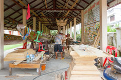 Χτίζοντας ταϊλανδική βάρκα Στοκ Εικόνες