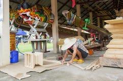Χτίζοντας ταϊλανδική βάρκα Στοκ εικόνα με δικαίωμα ελεύθερης χρήσης