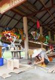 Χτίζοντας ταϊλανδική βάρκα Στοκ Φωτογραφίες