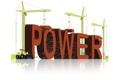 χτίζοντας την ισχυρή δύναμη & Στοκ Εικόνα