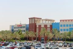 Χτίζοντας 9 της πόλης Διαδικτύου του Ντουμπάι, συμπεριλαμβανομένων των γραφείων του ασβεστίου Στοκ Φωτογραφίες