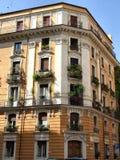 χτίζοντας τη μεσογειακή Ρώμη χαρακτηριστική Στοκ φωτογραφία με δικαίωμα ελεύθερης χρήσης
