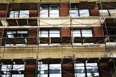 χτίζοντας τοίχος αποκατά& Στοκ Φωτογραφίες