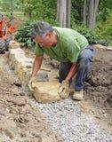 χτίζοντας τοίχος πετρών ατ Στοκ εικόνες με δικαίωμα ελεύθερης χρήσης