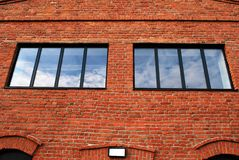Χτίζοντας τούβλα Στοκ εικόνες με δικαίωμα ελεύθερης χρήσης