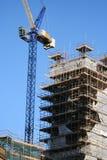 χτίζοντας το γερανό ατελή Στοκ φωτογραφία με δικαίωμα ελεύθερης χρήσης