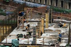 χτίζοντας το σπίτι νέο Στοκ εικόνα με δικαίωμα ελεύθερης χρήσης