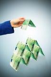 χτίζοντας χρήματα Στοκ εικόνα με δικαίωμα ελεύθερης χρήσης