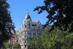 Χτίζοντας Plaza de Espana, Μαδρίτη Στοκ Εικόνα