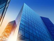 χτίστε την επιχειρησιακή πρόοδο κτηρίων Στοκ Εικόνες