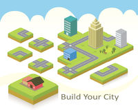 χτίστε την πόλη σας ελεύθερη απεικόνιση δικαιώματος