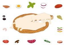 Χτίστε την τεμαχισμένη πίτσα σας απεικόνιση αποθεμάτων