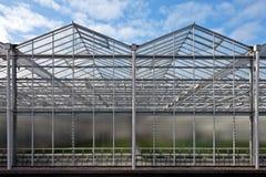 χτίστε το μπροστινό θερμοκήπιο εμφανίζει πρόσφατα Στοκ Εικόνες
