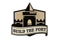 Χτίστε το λογότυπο οχυρών Στοκ Φωτογραφίες