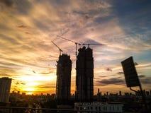 Χτίστε το condomimium στην πόλη της Μπανγκόκ στοκ φωτογραφία