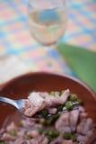 Χταπόδι με τα πράσινα μπιζέλια Στοκ φωτογραφία με δικαίωμα ελεύθερης χρήσης