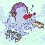 Χταπόδι μουσικών διανυσματική απεικόνιση