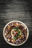 Χταπόδι Bolied στον πικάντικο εκκινητή tapas σάλτσας Στοκ φωτογραφία με δικαίωμα ελεύθερης χρήσης
