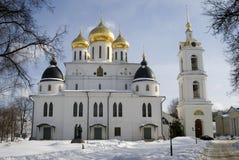 1507 1533 χτισμένα υπόθεση έτη καθεδρικών ναών Κρεμλίνο σε Dmitrov, αρχαία πόλη στην περιοχή της Μόσχας Στοκ φωτογραφία με δικαίωμα ελεύθερης χρήσης