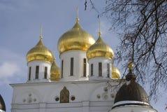 1507 1533 χτισμένα υπόθεση έτη καθεδρικών ναών Κρεμλίνο σε Dmitrov, αρχαία πόλη στην περιοχή της Μόσχας Στοκ Φωτογραφίες