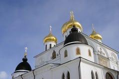 1507 1533 χτισμένα υπόθεση έτη καθεδρικών ναών Κρεμλίνο σε Dmitrov, αρχαία πόλη στην περιοχή της Μόσχας Στοκ Εικόνες
