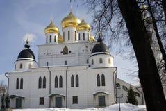 1507 1533 χτισμένα υπόθεση έτη καθεδρικών ναών Κρεμλίνο σε Dmitrov, αρχαία πόλη στην περιοχή της Μόσχας Στοκ φωτογραφίες με δικαίωμα ελεύθερης χρήσης