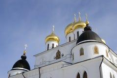 1507 1533 χτισμένα υπόθεση έτη καθεδρικών ναών Κρεμλίνο σε Dmitrov, αρχαία πόλη στην περιοχή της Μόσχας Στοκ εικόνες με δικαίωμα ελεύθερης χρήσης