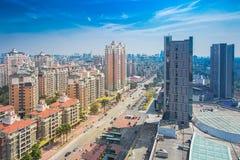 Χτισμένη δομή, σούρουπο, εξωτερικό κτιρίου γραφείων, ουρανοξύστης στοκ φωτογραφίες με δικαίωμα ελεύθερης χρήσης