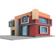 Χτισμένο καινούργιο σπίτι σκηνής εντελώς απεικόνιση αποθεμάτων