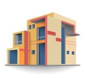 Χτισμένο καινούργιο σπίτι χρωμάτων εντελώς ελεύθερη απεικόνιση δικαιώματος