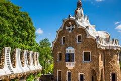 χτισμένο σχεδιασμένο διάσημο πάρκο Ισπανία gaudi του Antoni του 1914 του 1900 η Βαρκελώνη guell στα έτη Στοκ φωτογραφία με δικαίωμα ελεύθερης χρήσης