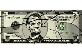 χτυπημένη οικονομία ελεύθερη απεικόνιση δικαιώματος