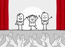 χτυπώντας τα χέρια εμφανίστ& Στοκ εικόνα με δικαίωμα ελεύθερης χρήσης