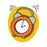 Χτύπημα ξυπνητηριών Ξυπνήστε χρόνος πρωινού διανυσματική απεικόνιση