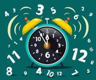 Χτύπημα ξυπνητηριών απεικόνιση αποθεμάτων