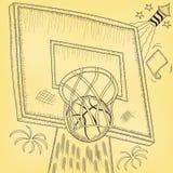 Χτύπημα στεφανών καλαθοσφαίρισης διανυσματική απεικόνιση
