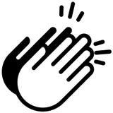 Χτύπημα της διανυσματικής απεικόνισης χεριών από τα crafteroks απεικόνιση αποθεμάτων