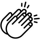 Χτύπημα της διανυσματικής απεικόνισης χεριών από τα crafteroks ελεύθερη απεικόνιση δικαιώματος