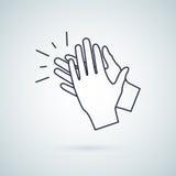 Χτύπημα του εικονιδίου χεριών, διανυσματικό σύμβολο σημαδιών απεικόνισης ελεύθερη απεικόνιση δικαιώματος