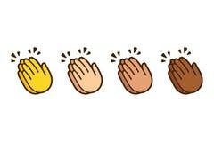 Χτύπημα του συνόλου emoji χεριών απεικόνιση αποθεμάτων