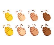 Χτύπημα του συνόλου emoji χεριών ελεύθερη απεικόνιση δικαιώματος